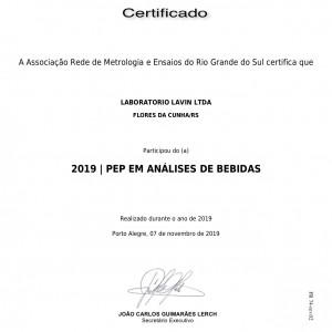 Certificado em Ensaios de proficiência